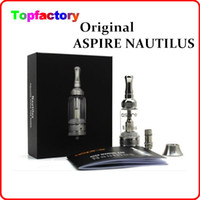 Replaceable 5.0ml Glass Real Original Aspire Nautilus adjustable airflow Tank System Glassomizer pyrex glass tank airflow control Clearomizer atomizer BDC dual coil