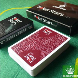 Wholesale have colors can choose wine red and black plastic playing cards poker stars hot selling new top sale freeship