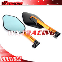 mirror   Universal Motorcycle CNC Tomok L&R Rear Back Side Mirrors For YAMAHA XT 660 WR 250 125 XT 125 Gold