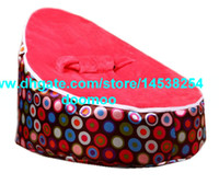 Wholesale Modern Portable baby bean bag chair baby seat furniture kids toddlers beanbag convenient baby travel beds sleeping bed BALLS RED