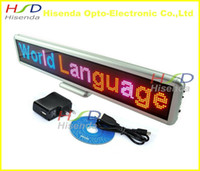led display board - Red Blue and Pink Thri Color indoor LED mini display LED Electronic Scrolling Sign display board in Global Languages rechargeable cm