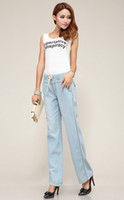Wholesale Plus Size Wide Leg Jeans for Women Acid Wash Look Cotton Rich Material Made Multiple Sizes