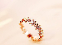 Band Rings Yes Wedding Bands 2014 new arrival AliExpress lowest tide fashion personality charm rose gold wedding rings Ms. transparent opal jewelry B18