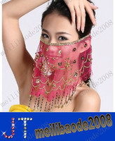 Dance Accessories belly dance jewelry - Belly dance veil belly dance scarf plum face gauze cloth dance belly dancing jewelry MYY9432