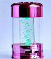 Wholesale K666 Colorful Crystal Loudspeaker Portable Mini Speaker TF Card Mini Portable BeatBox cylindrical mini Speaker colors