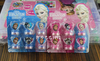 Wholesale 2014 Frozen Anna Elsa Stamper Set Cartoon Character Princess Stamp New Novelty Toy Gifts set Stamps