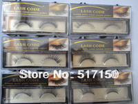 Wholesale MIX different style100 natural real siberian mink fur false eyelashes mink strip lashes for sale