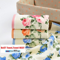 Wholesale BeST free ship new cm soft cotton brand face Flower towel a set bamboo quick dry towels T4011