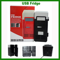 Wholesale FREE DHL USB PC Fridge Car Refrigerator MINI Portable Heater Beer Juice Warmer Cooler with LED Indicator In Stock