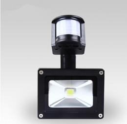 Hot Sale! Free Shipping 10W PIR Motion detective Sensor LED Flood light Outdoor Black Floodlight 85V-265V Free Shipping
