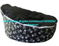 fabric 75cm x 55cm x 40cm  fabric Modern Portable baby bean bag chair,baby seat furniture, kids toddlers beanbag,convenient baby travel beds,sleeping bed - Pirate skull blk