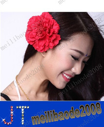 Wholesale New belly dance belly dance hair accessories hair accessories head peony flower corsage multicolor MYY9436