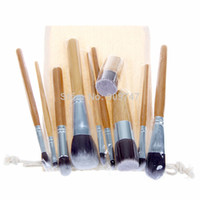 Wholesale Professional New Cosmetic Brush set TOOLS Bamboo Handle Synthetic Makeup Brush Kit make up brush set tools
