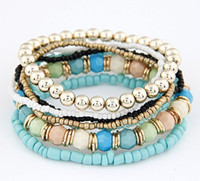 Wholesale New Colorful Beads Multilayer Charm Bracelet amp Bangle For Women Fashion Jewelry