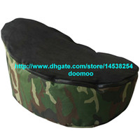 Wholesale Modern Portable baby bean bag chair baby seat furniture kids toddlers beanbag convenient baby travel beds sleeping bed camoflage black