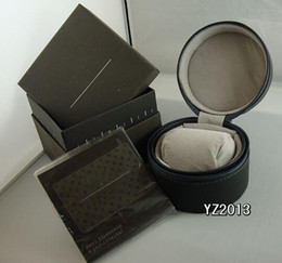 new Mens black Watch leather Box Original Woman's Men Watches Boxes Papers