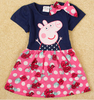 TuTu Summer A-Line Wholesale - free shipping peppa pig baby clothes pepe pig children dress Children's wear in the summer of new children's skirt