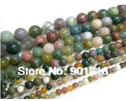 Indian agate beads 4 6 810 12 14mm Round stone Jewelry Beads Loose Strand 40cm strand F369