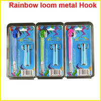 Wholesale Rainbow Loom Replacement Metal hook with Mini Loom bands hook DIY Bracelet For Rubber Band Makes colors cheap