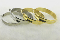 Wholesale Gold earrings samples stainless steel hoop women earring