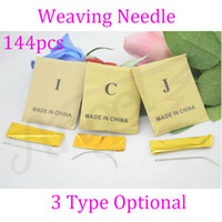 Wholesale 6cm length C J I TYPE Crochet Hooks Knitting Needles of Weaving sewing needles for human hair extension hair wig weaving Tools