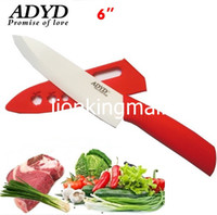 Wholesale SKU186 ADYD quot Ceramic Knives Eco friendly health Zirconia kitchen Fruits Ceramic Knives for Modern Kitchen Red