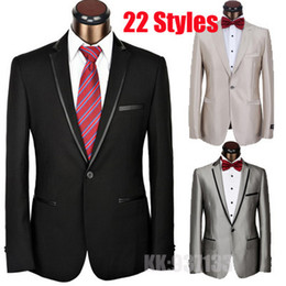 Wholesale 2014 Formal Italian brand Single Button Tuxedo slim fit men suit for wedding cheap designer clothes men homecoming Pants blazer men suits