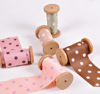 Wholesale 3 quot mm Pop Dot Grosgrain Ribbon Satin yard