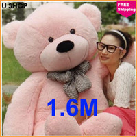 Wholesale cm Pink Life Size Doll Plush Large Teddy Bear For Sale Giant Big Soft Toys Teddy Bears Valentines Christmas Birthday Day GiftS7