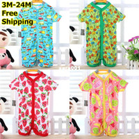 Summer baby sleepsuits - Baby Jumpsuits Baby Crawl High Quality Soft Rompers Cotton pack Short Sleeves Sleepsuits New Coming 40