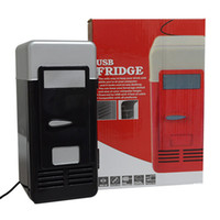 Wholesale MINI Portable USB PC Fridge Car Refrigerator Heater Beer Juice Warmer Cooler with LED Indicator In Stock