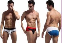 Wholesale Cool Swimwear Bikinis - Brand Mens Sexy Sportswear Swimming Trunks Beachwear Bikini low rise Briefs Shorts Swimsuit Swimwear Cool Trunks