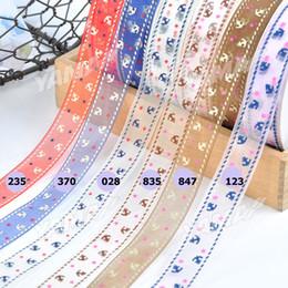 Wholesale 3 quot mm Fancy Organza Printed Ribbon Anchor Yama Ribbons yard