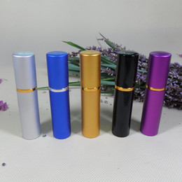 Wholesale - Free Shipping, Wholsale perfume bottle 5ml Aluminium Anodized Compact Perfume Atomiser fragrance glass scent-bottle