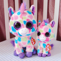 Wholesale TY big Crystal Eye Unicorn doll plush toy quot Big Eyes Cute Fabric Doll doll plush toysS7