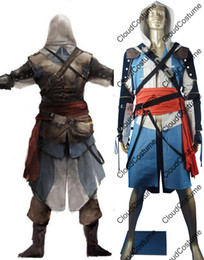 Wholesale Hot sale Assassin s Creed black flag cosplay costume Edward Kenway cosplay outfit Halloween costume for cosplayers