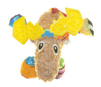 Teddy Bear Multicolor Plush New super cute multifunctional Pere David's deer antelope brown lamaze bed hang bell baby toys LMZPD0013