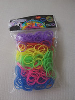 Unisex 8-11 Years Multicolor Normal rubber band Rainbow Loom Mixed packing (300 pcs Rubber Bands +12 S Clips + 1 hook)6 Color