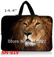 """Yes Laptop Briefcase China (Mainland) Wholesale-14"""" 14.4""""inch waterproof notebook laptop sleeve case handle bag-819h Lion King-Free shipping.Brand new407"""