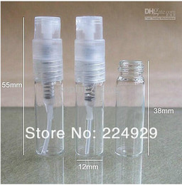 Wholesale - 500 pcs 2ML mini Glass Spray Perfume Bottle sample parfum atomizer fragrance bottle Small Oil Spray Container