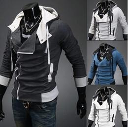 Wholesale 2014 New Fashion Korean Men s Hoodies Sweatshirt Slim Stylish Casual Cardigan Red Black and White SF07