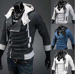 Wholesale 2015 New Fashion Men Assassins Creed Jacket Korean Men s Hoodies Sweatshirt Slim Stylish Casual Cardigan Jacket Cosplay Costume SF07