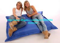 Wholesale Giant Outdoor bean bag Versitle function beanbags home furniture DEEP OCEAN BLUE