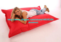 Living Room Chairs bean coat - 420D polyester wtih PVC coating Giant Outdoor bean bag Versitle function beanbags home furniture Hisbiscus Red