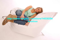 giant bean bags - 420Doxford PVC OUTDOOR bean bag bean bag chair bean bag lounger beanbag cover Giant bean bag WHITE