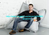 Wholesale 420Doxford PVC OUTDOOR bean bag bean bag chair bean bag lounger beanbag cover Giant bean bag SILVER