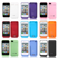 Cheap NEW NEW !! Backup External 1900mAh Battery Charger Case Cover Power Bank for apple phone Iphone 4 4G 4S withe Retail Box DHL Freeshipping