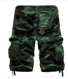 Wholesale new style summer leisure loose big yards camouflage cargo shorts multi pocket pants fifth