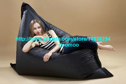 Wholesale 420Doxford PVC OUTDOOR bean bag bean bag chair bean bag lounger beanbag cover Giant bean bag BLACK