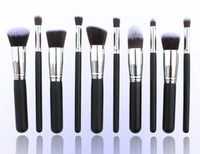 Wholesale High quality HOT Makeup Brushes piece Professional Brush sets gold white black set gift